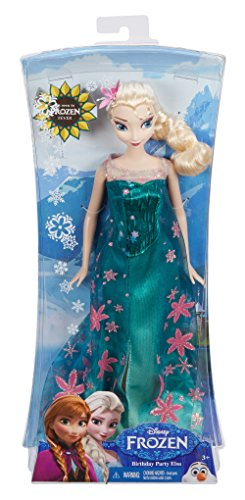 "Disney Frozen Fever Elsa Doll 12/"" Birthday Party Dress"