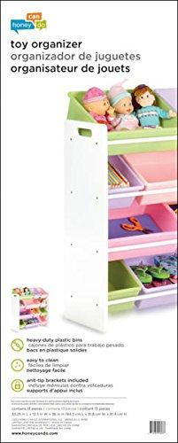 Honey Can Do Srt 01603 Kids Toy Organizer And Storage Bins White Pastel